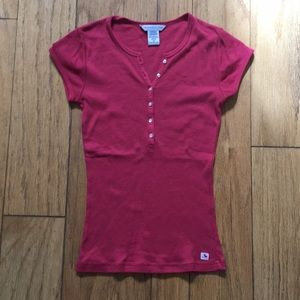 Pink Ribbed Shirt Sleeve Button Down